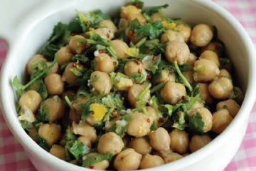 Chickpea or Green Fava Beans Salad