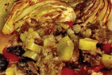 Oven-cooked Lean Meat with Fennel
